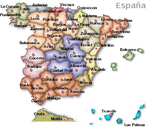 Mapa España cortesía de quirón